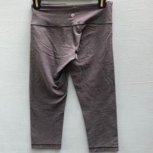 Lululemon Wunder Under Crops - Gray Workout Pants